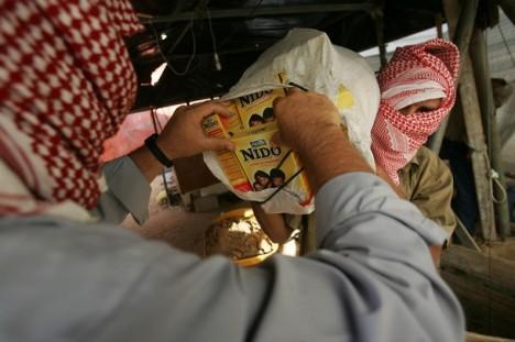 تهريب حليب الأطفال في غزة المحاصرة